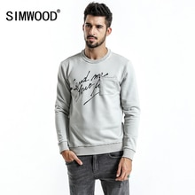 SIMWOOD marque sweat à capuche pour homme 2020 printemps nouvelle mode Slim Fit lettre imprimer o-cou sweats homme grande taille survêtement WT017020