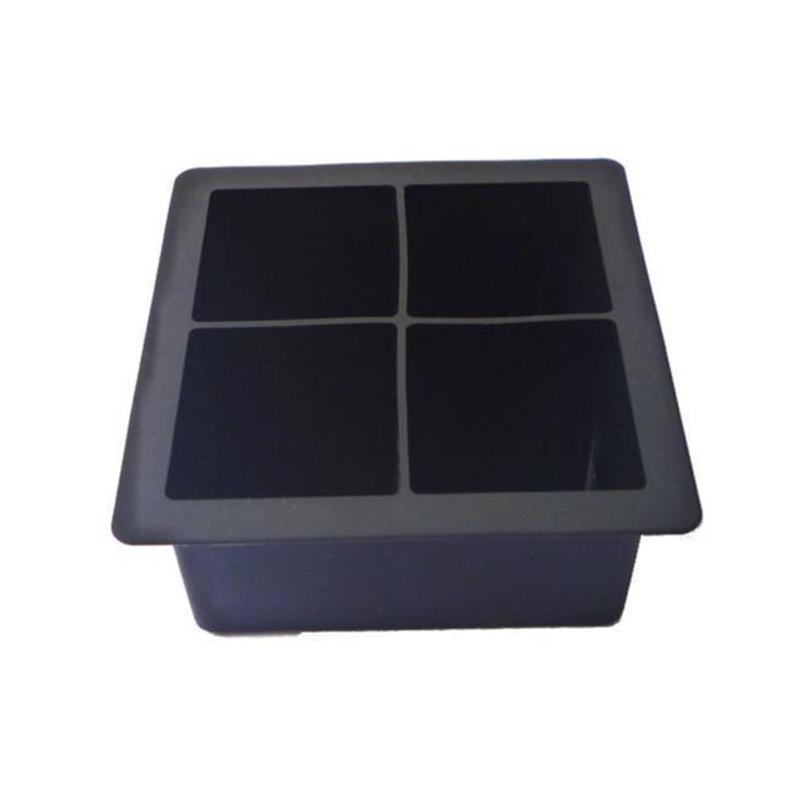Ice Tray Mold Black Big Size Large Silicone Ice Cube Square Mould Cube Silicone Mold Ice Mold Tubs Trays FDA