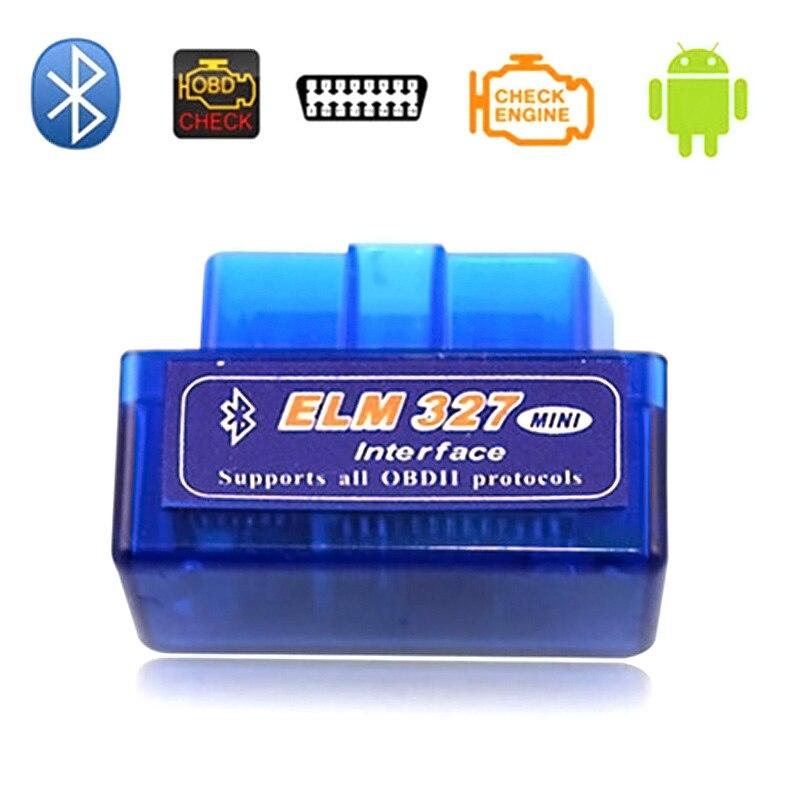 Mini ELM327 OBDII OBD2 Bluetooth herramienta de escaneo de diagnóstico de coche Auto escáner para dispositivos Android V2.1 NJ88