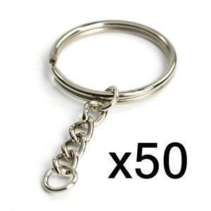Раздельный брелок, металлический брелок, 50 шт., 25 мм