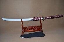 De acero 1095 Samurai japonés funcional espada real Naginata espiga completa de enfriamiento de aceite de Unokubi-Zukuri cuchilla afilada nube Tsuba