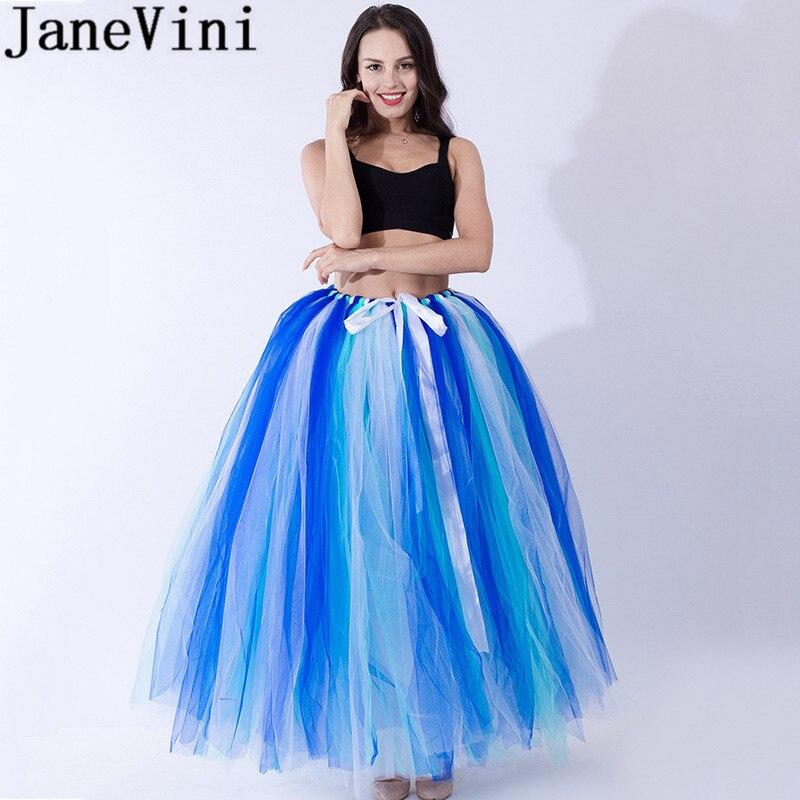 JaneVini Tutu Adulte Rockabilly jupon femmes robe de bal bouffante Tulle Long jupon de mariée copain sous robe de mariée
