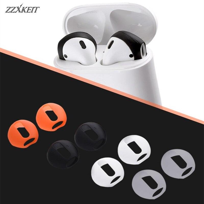 4 pares de almohadillas antideslizantes ultrafinas suaves de silicona para los oídos, auriculares, cubierta de repuesto mejorada para auriculares airpods de Apple