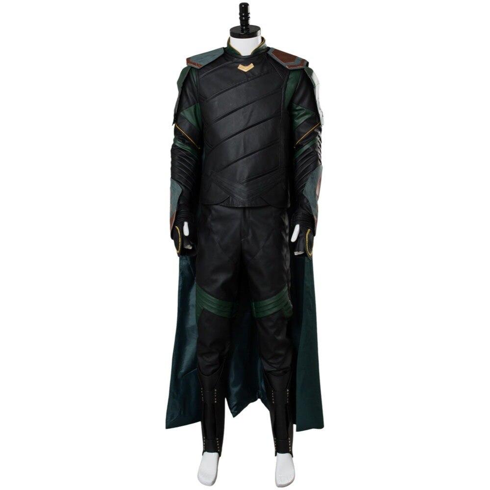 Disfraz de Cosplay de Thor 3 Ragnarok Loki, conjunto completo para adultos, hombres y mujeres, disfraz de Carnaval de Halloween, hecho a medida en cualquier tamaño