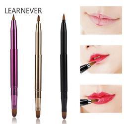 Learnever 3 Style аппликатор, переносная кисточка для губ, двухсторонняя Выдвижная помада, Кисть для макияжа, инструменты для макияжа губ, Кисть для макияжа