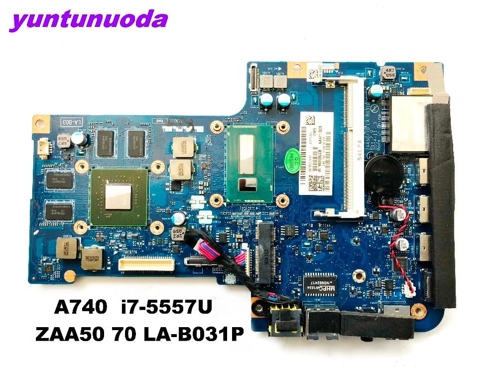 Original 대 한 Lenovo A740 All-In-One AiO 27 인치 Laptop Motherboard i7-5557U 1.6g 의 CPU ZAA50 70 LA-B031P 테스트 굿 free shipping