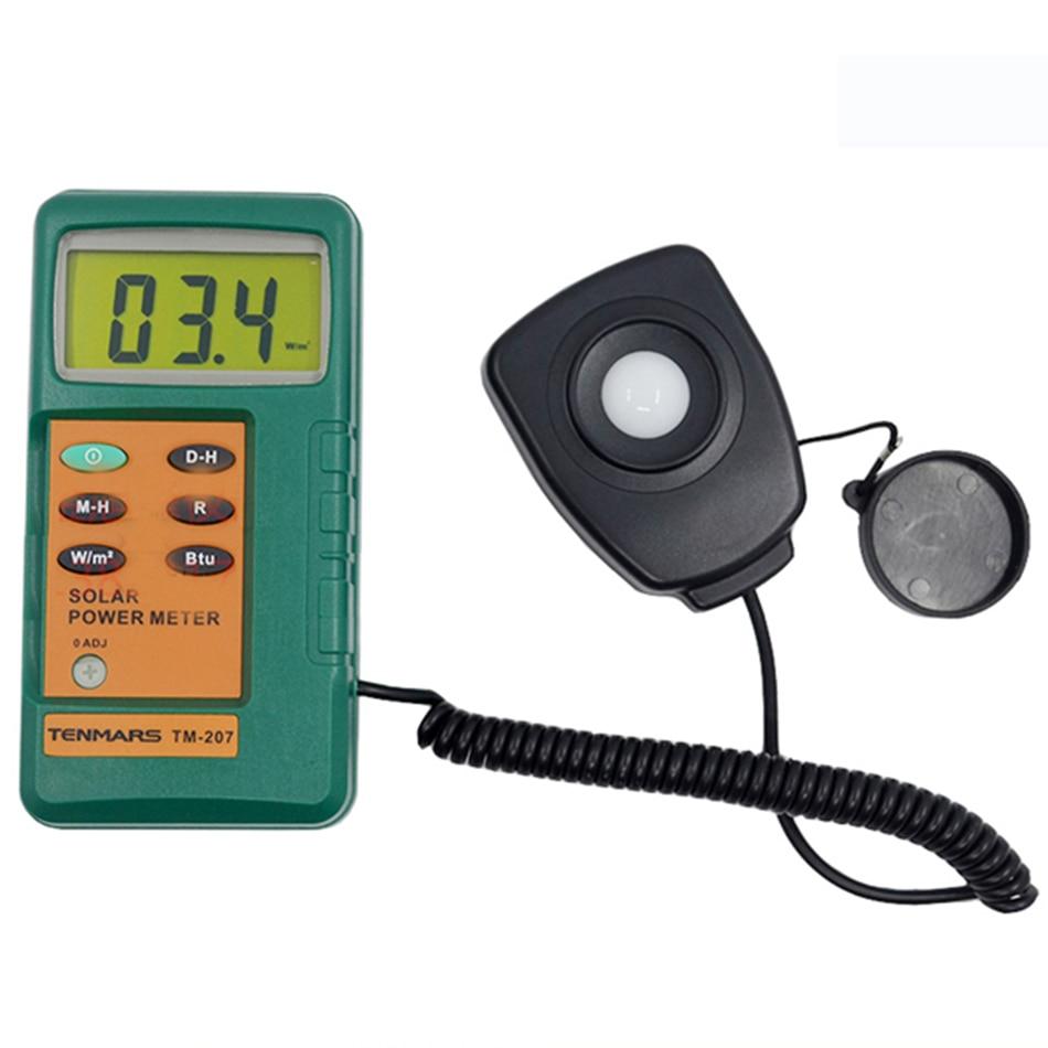 Tenmars-جهاز كشف الإشعاع الشمسي عالي الدقة ، مقياس طاقة احترافي TM207