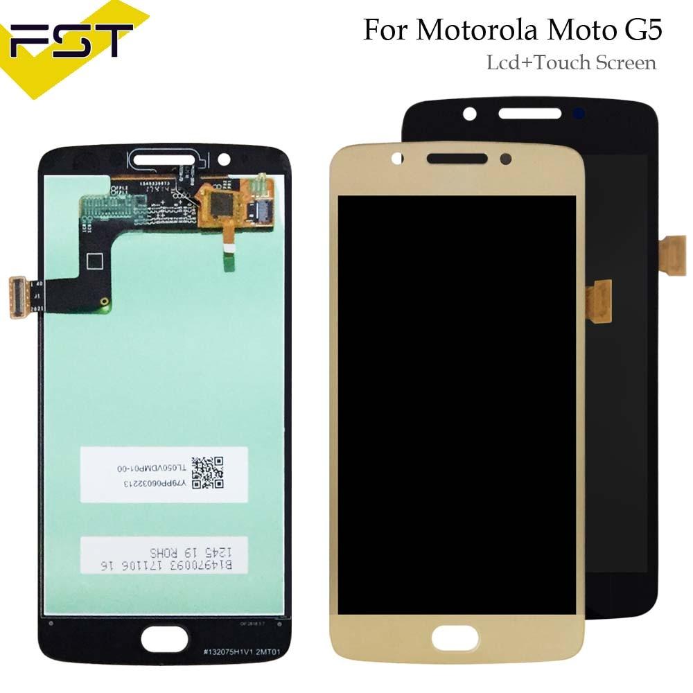 Preto 5.0 for for para motorola moto g5 xt1671 xt1672 display lcd + touch screen digitador assembléia para moto g5 xt1676 xt1677