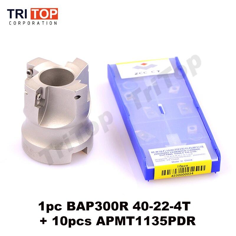 Envío gratis 1pc BAP japonés 300R-40-22-4T herramienta de fresado con 10 Uds fresado insertar APMT1135PDR cara molino hombro cortador