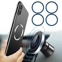Автомобильный магнитный держатель для Magsafe Charger iPhone 12Pro 8Plus 11Pro XR 11 XS Max 12Mini Samsung Galaxy S9 S8 S10 S20 XIAOMI HUAWEi, металлический диск, железная пластина, Бесп...