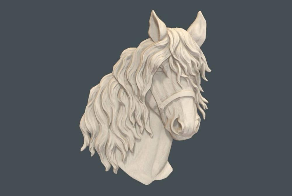 Голова Лошади 3D рельефа модель в STL формате CNC маршрутизатор резьба гравировки Artcam aspire M98
