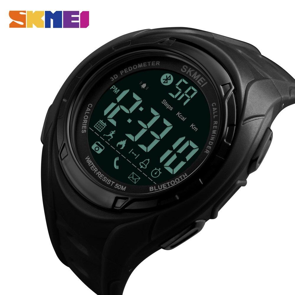 SKMEI Bluetooth Smart часы Шагомер калорий Открытый Спортивные часы Для мужчин модные Наручные часы для IOS Android Relogio Masculino