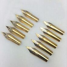 5 pezzi pennino stilografica in acciaio inossidabile sostituire pennino universale 0.5mm pennino dritto/curvo accessori scuola