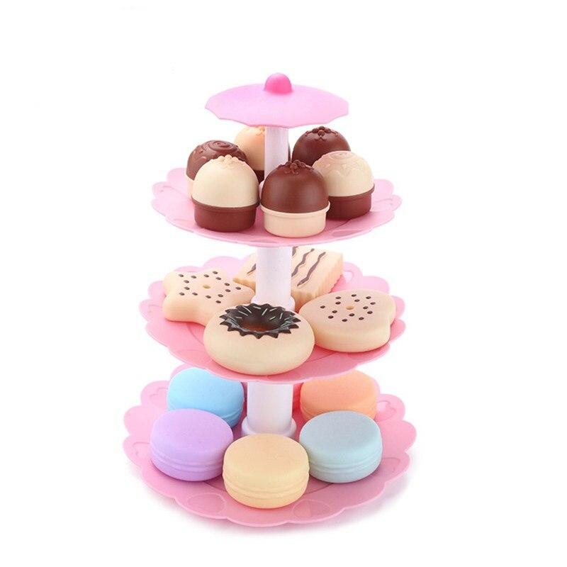 17 шт. DIY притворяться, играть миниатюрное печенье, еда, десерт, башня, имитация пищи, торт, печенье, Пончик, развивающие подарки для детей