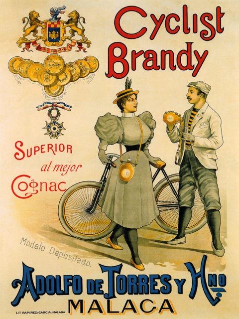 Cartel Vintage de bebidas alcohólicas para vino, coñac, ciclista, brandy, pinturas clásicas en lienzo, pósteres de pared, pegatinas para decoración del hogar, regalo