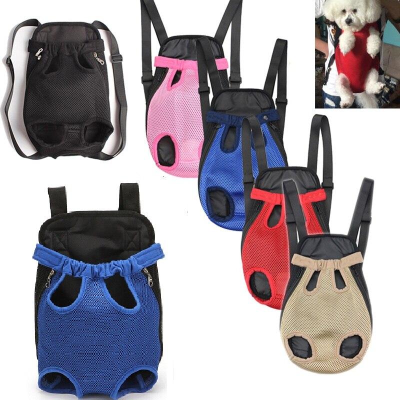 Mochila bolsa de transporte para perros y gatos, malla transpirable, productos para transporte de perros