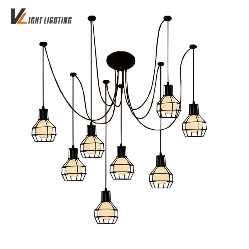 Lámpara de techo de estilo nórdico Para Sala de estar, candelabros de...