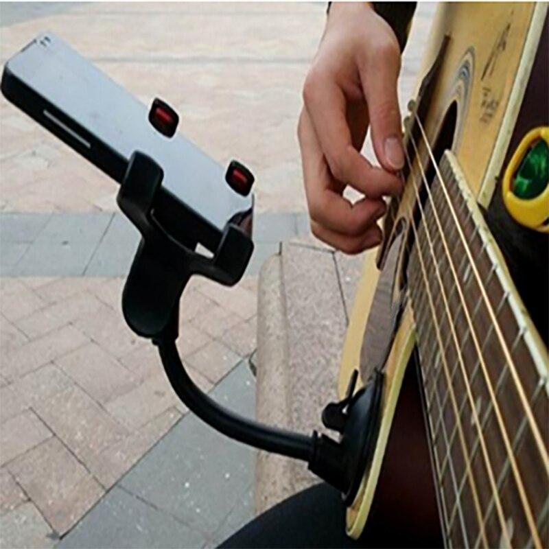 Держатель для телефона, подставка для гитары, уличного пения, держатель для автомобиля, присоски, присоски, музыкальная подставка для гитары, автомобильный держатель для мобильного телефона