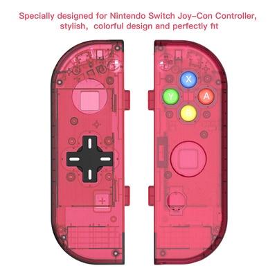 5 unids/lote carcasa de controlador de botón cruzado negro para Joycon consola de interruptores LR Joystick caja de reparación de piezas