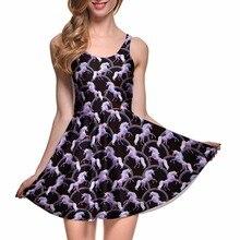 Livraison directe femmes robe de cheval volant été Vestidos mignon chat chien imprimé réversible rose robe patineuse bleu maison Vestidos grande taille