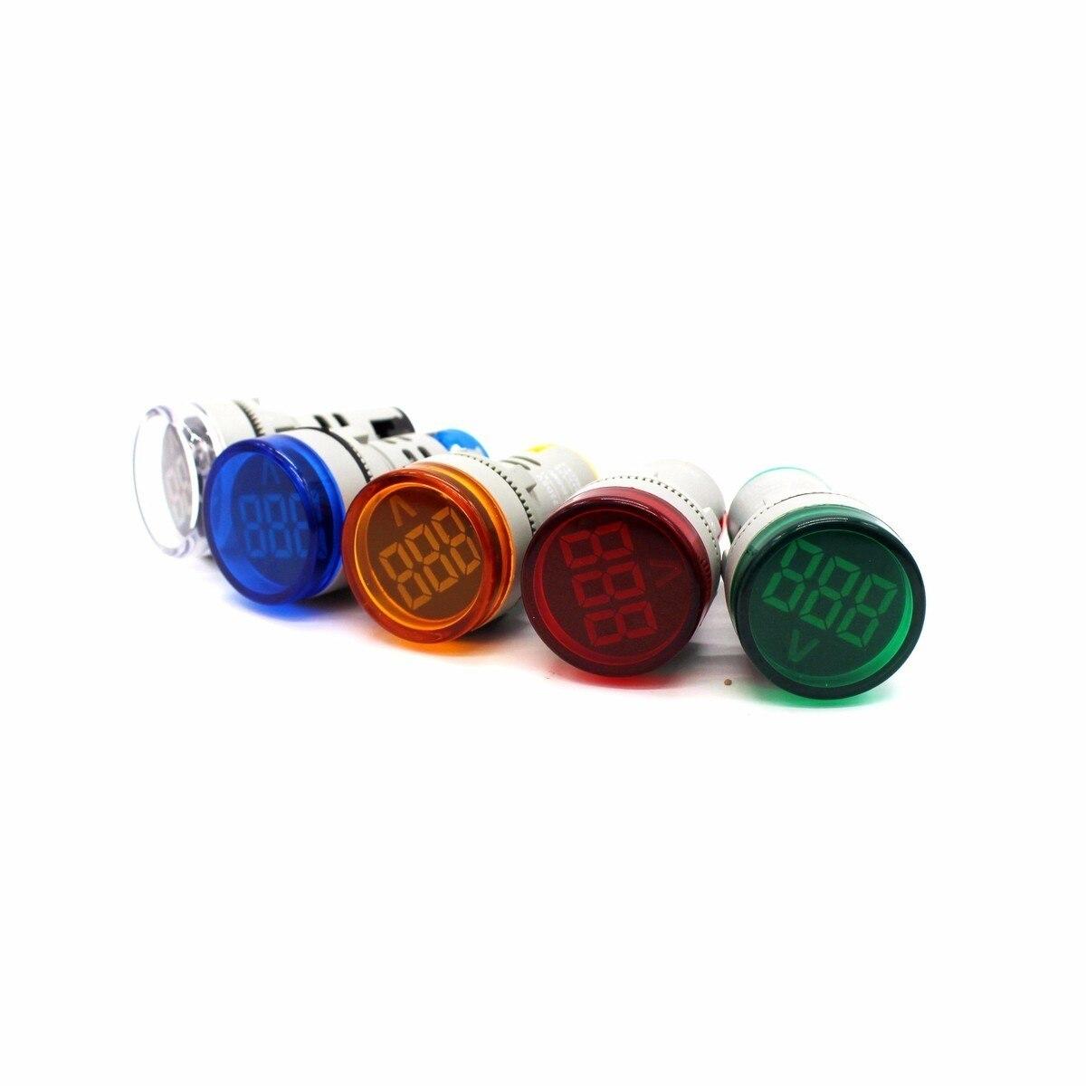 22mm led digital display gauge volt voltage meter indicator signal lamp voltmeter lights tester combo measuring range 60 500v ac 22mm LED Digital Display Gauge Volt Voltage Meter Indicator Signal Lamp Voltmeter Lights Tester Combo Measuring Range 1-500V AC