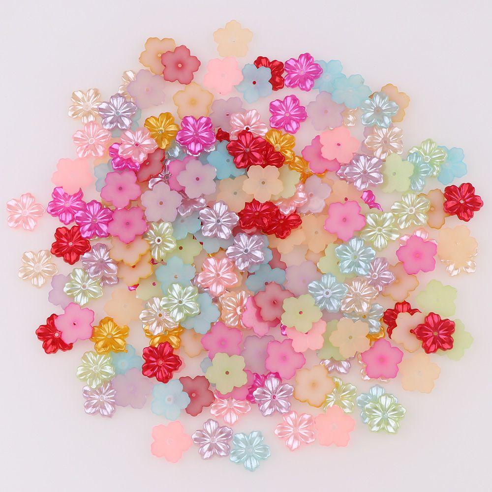 200 cuentas de perlas de plástico ABS de imitación de cabujón con parte posterior plana de Color marfil de 13mm para manualidades