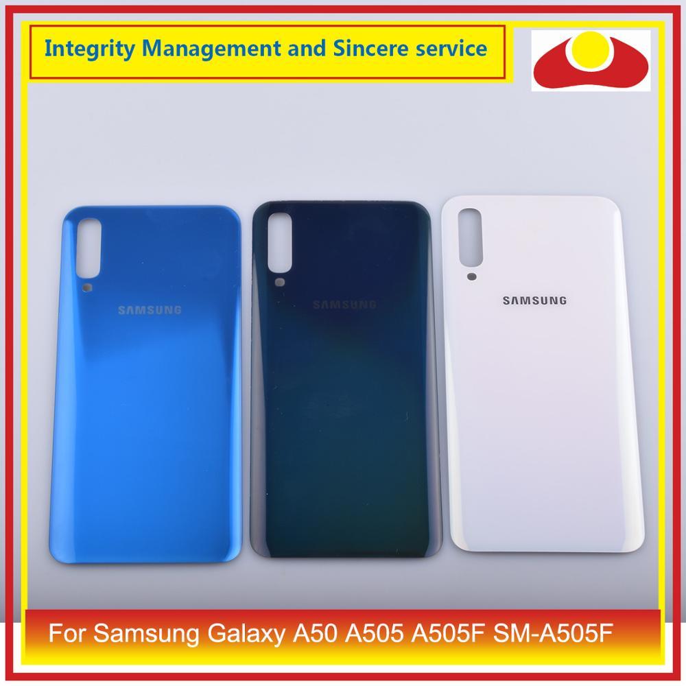 10 unids/lote para Samsung Galaxy A50 A505 A505F SM-A505F carcasa batería puerta para parabrisas trasero carcasa chasis carcasa A50 2019