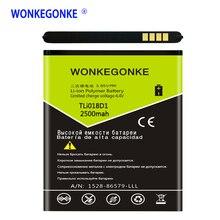 WONKEGONKE TLi018D1 Batterie für Alcatel One touch Pop D5 Dual 5038x OT5038X Pop 3 5015D OT 5016 5051A Batterien Bateria
