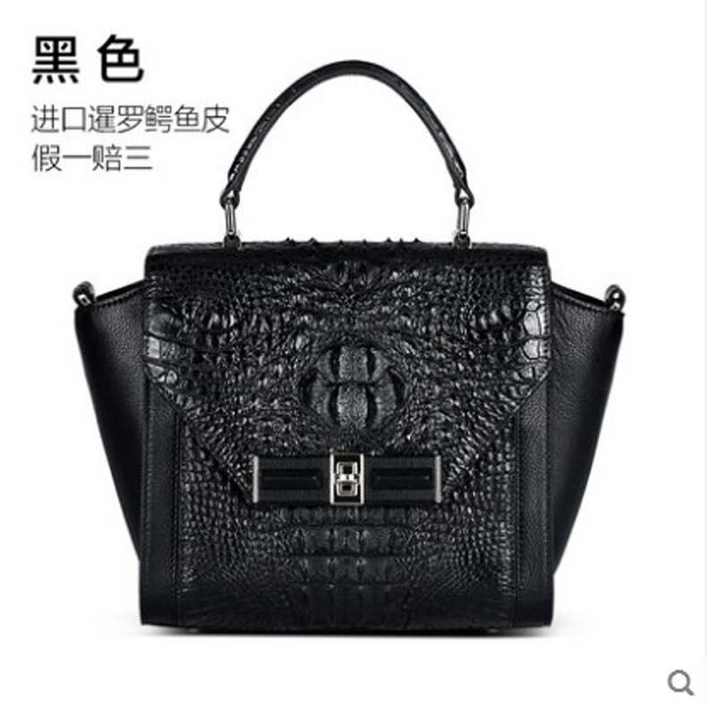 Kadilaier-حقيبة يد نسائية من جلد التمساح ، حقيبة كتف واحدة ، جلد طبيعي ، جلد تمساح تايلاندي
