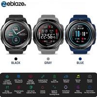 Zeblaze VIBE 5 HR ספורט Bluetooth חכם שעון קצב לב צג פדומטר Smartwatch דיגיטלי שעון יד גברים עבור IOS אנדרואיד