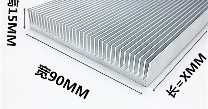 Envío Gratis, disipador térmico de aluminio de alta potencia, radiador dental denso, barra de aluminio de placa de refrigeración electrónica de 90*15*100MM