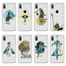 La Légende de Zelda Souffle de la Nature En Silicone Souple TPU Téléphone étui pour iphone X 10 7 8plus 6 6S Plus 7 8 5S SE XR XS Max Cas