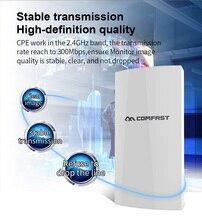300Mbps 2.4G routeur CPE extérieur Point daccès Wi-fi WDS sans fil Wifi pont gamme Extender Wifi répéteur pour caméra IP CF-E130N
