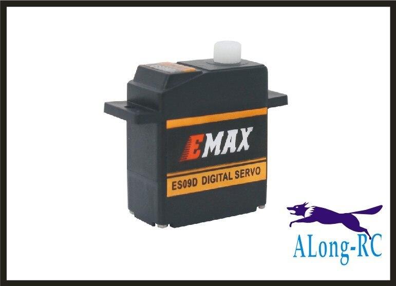 Envío gratis 2 uds EMAX ES09D Plastic Digital Swash RC Servo para 450 helicóptero/avión hobby/modelo RC/servo cola de avión