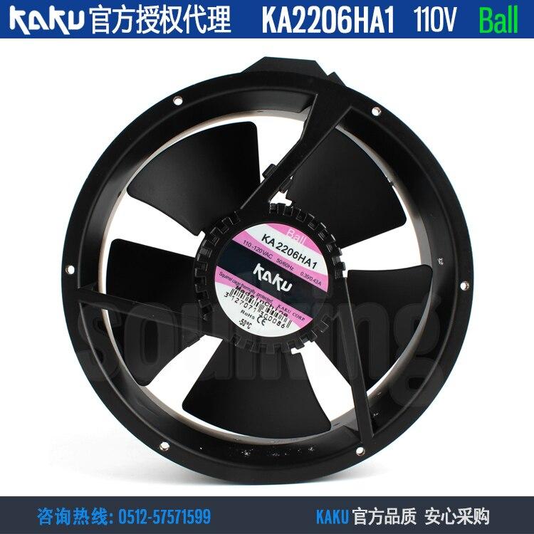 KAKU-مروحة تبريد معدنية محورية KA2206HA1 ، 222 × 60 مللي متر ، 110 فولت ، IP55 AC ، جديد