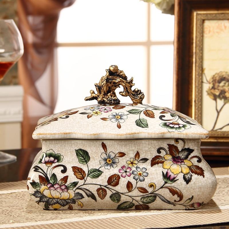 Decoration storage box Ceramic beautiful