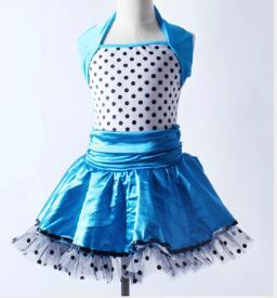 Polka dot azuis jazz tap tutu crianças dos miúdos da princesa Ballet Dança Tutu Meninas Ballet Dança Vestido com calças collant de balé