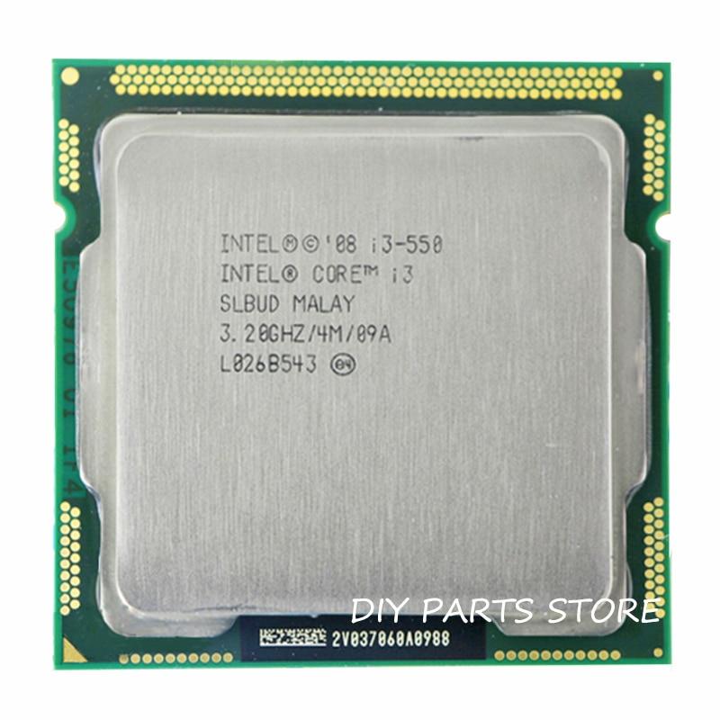 Процессор Intel Core i3 550 i3 550, 3,2 ГГц/6 МБ, разъем LGA 1156, процессор HD, поддержка памяти: DDR3-1066