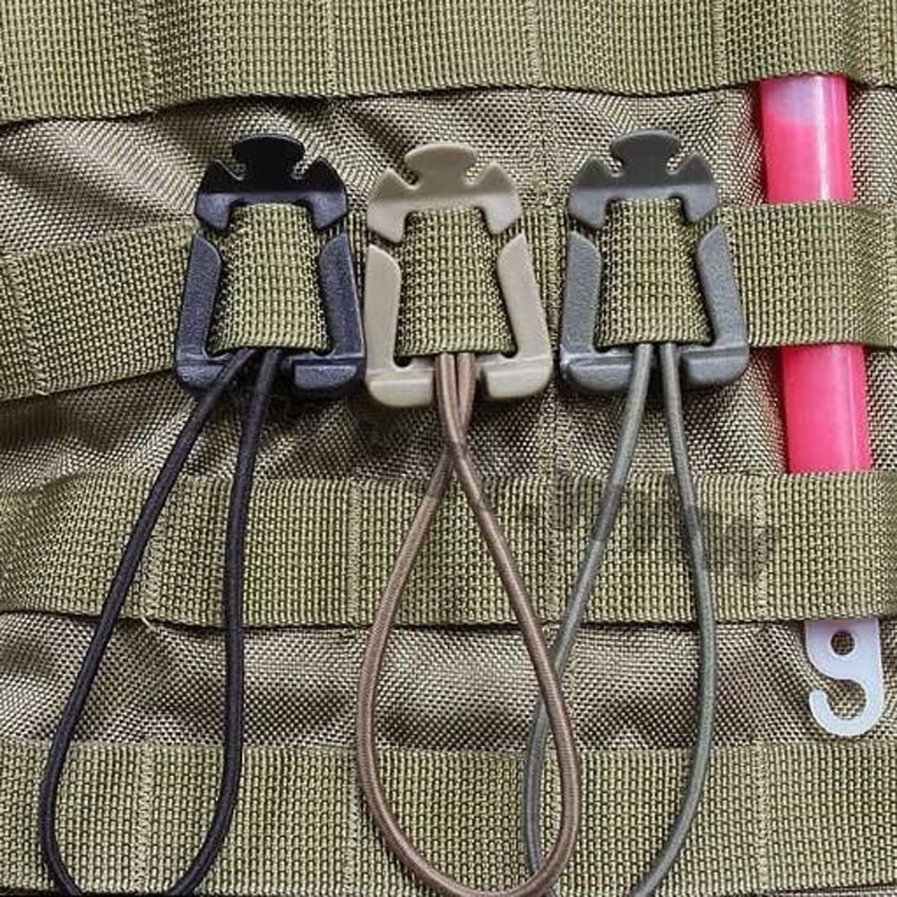 1/2/5Pcs Molle Backpack Buckle Carabiner Clips Outdoor Nylon Camping Bag Hanger Hook Clamp EDC Carab