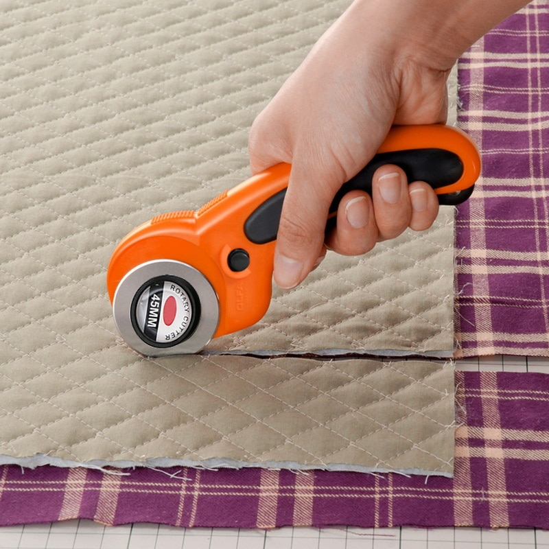 Urijk cortador de costura rotatorio de bucle portátil 45mm Premium Comfort Loop edreding rotatorio cortador asa de tela herramienta de corte artesanal