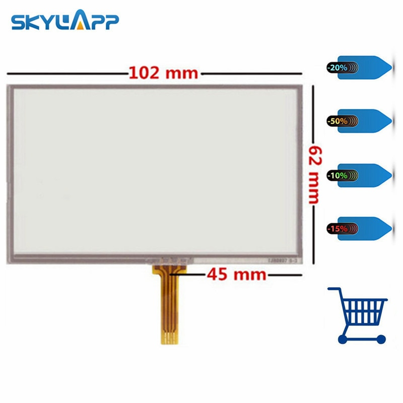 Skylarpu 10 unids/lote nuevo pantalla táctil para GARMIN Nuvi 765 de 765 T GPS resistencia panel táctil de cristal digitalizador manuscrito