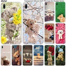 Hot Cute gift teddy bear Soft Silicone Phone Case for Huawei Mate 10 20 Lite Pro Enjoy 9S Y9 Y7 Y6 Y5 2019 2018 Pro 2017 Fashion