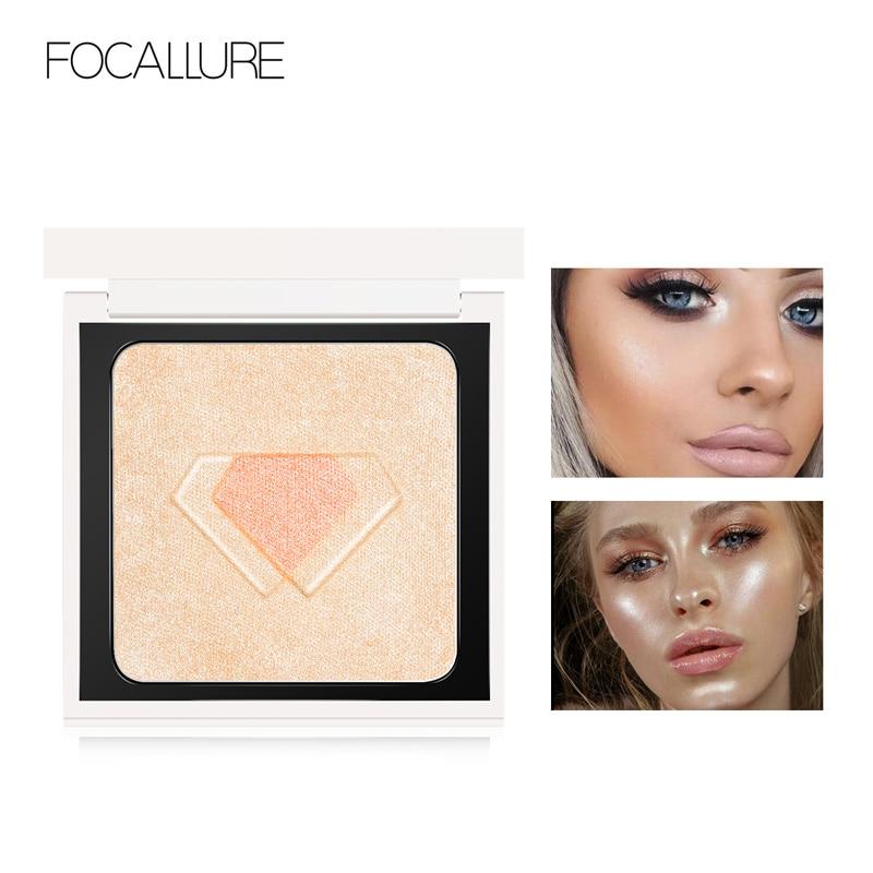 Новый хайлайтер FOCALLURE, контур лица для макияжа, блестящий порошок, блестящий золотой хайлайтер, палитра