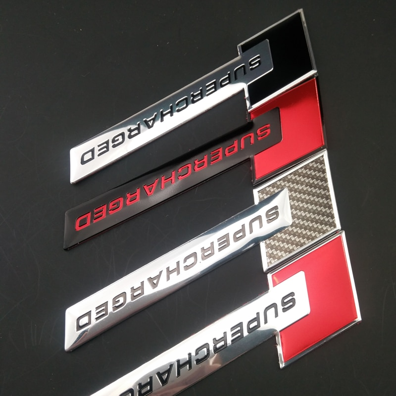 3D Racer Forma Do Carro SuperCHARGED Emblema do Metal Etiqueta para Mercedes-Benz Cadillac XTS CTS SRX ATS/Renault Koleos fluenec Latitude