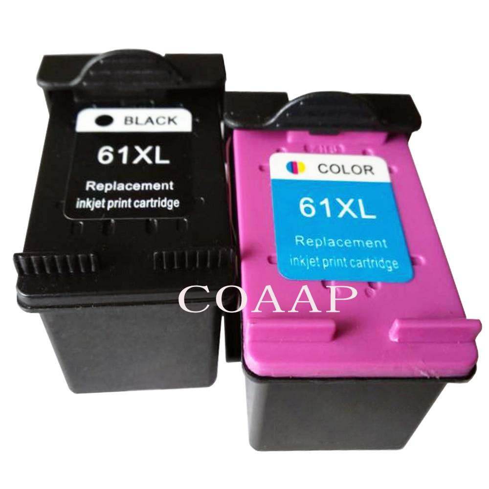 Pack de 2 Compatible Hp 61 XL CH561WN CH562WN cartucho de tinta para Officejet 2620, 4630, 4632, 4634, 4635, 8040, 8045 impresora