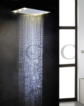 New Arrival!!! Alternating Current 6 PCS LED Yellow Lamps Rainfall Bathroom Shower Head L-50X36L