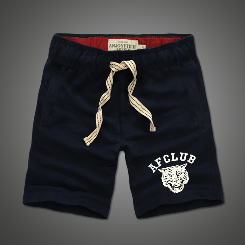 Pantalones cortos de hombre 100% algodón bordado Casual keen longitud pantalones de chándal pantalones transpirables
