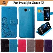 Prestigio Grace Z5 PSP5530 DUO  Case New Arrival 6 Colors Fashion Flip Ultra-thin Leather Protective Cover Phone Bag