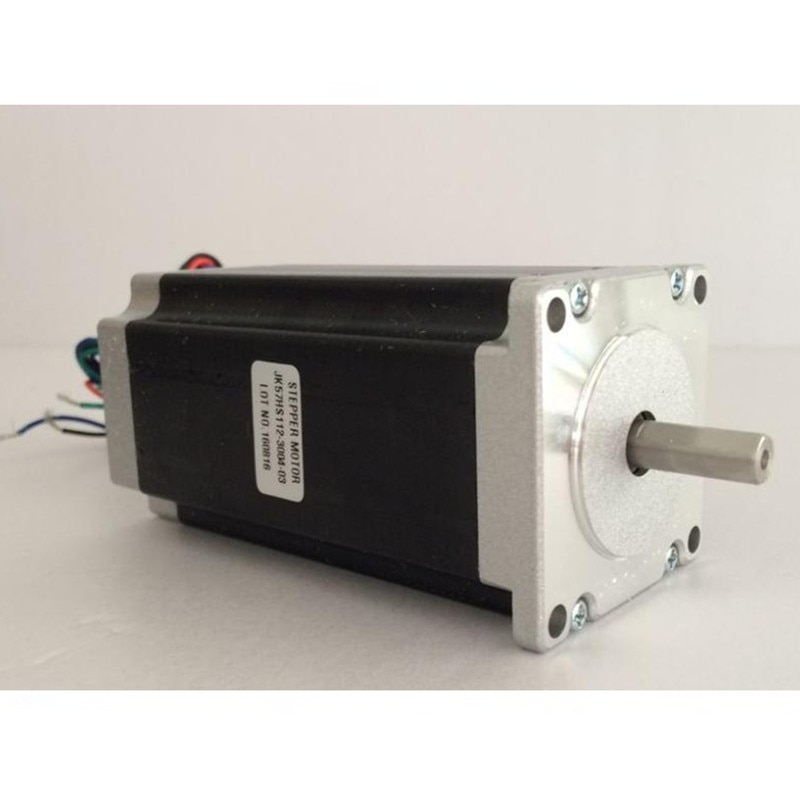 10 Uds. Eje simple Nema23 Motor paso a paso 57HS112-3004 425 oz/in (3NM) 3A 4 Plomo, 112mm fresadora cnc corte grabado láser