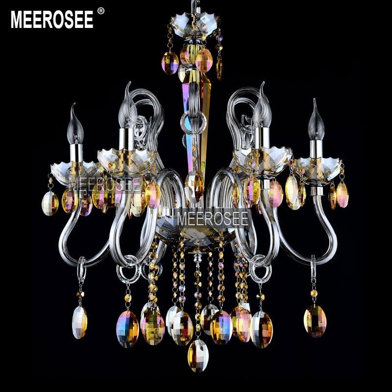 Lámpara colgante de cristales colorida moderna, accesorios de iluminación, Lustres de cristal,...